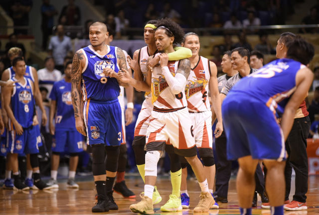 Tempers flare as San Miguel nabs fourth straight win over NLEX