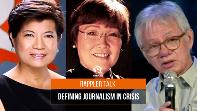 Rappler Talk: Defining journalism in crisis