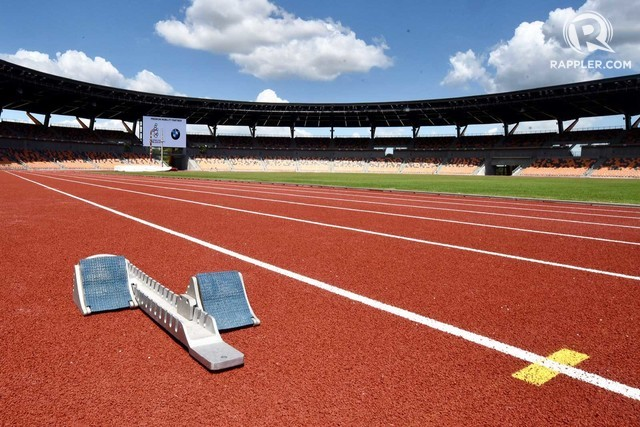 MULTI-BILLION. The track oval of the Athletic Stadium at New Clark City, the venue for the 30th SEA Games.