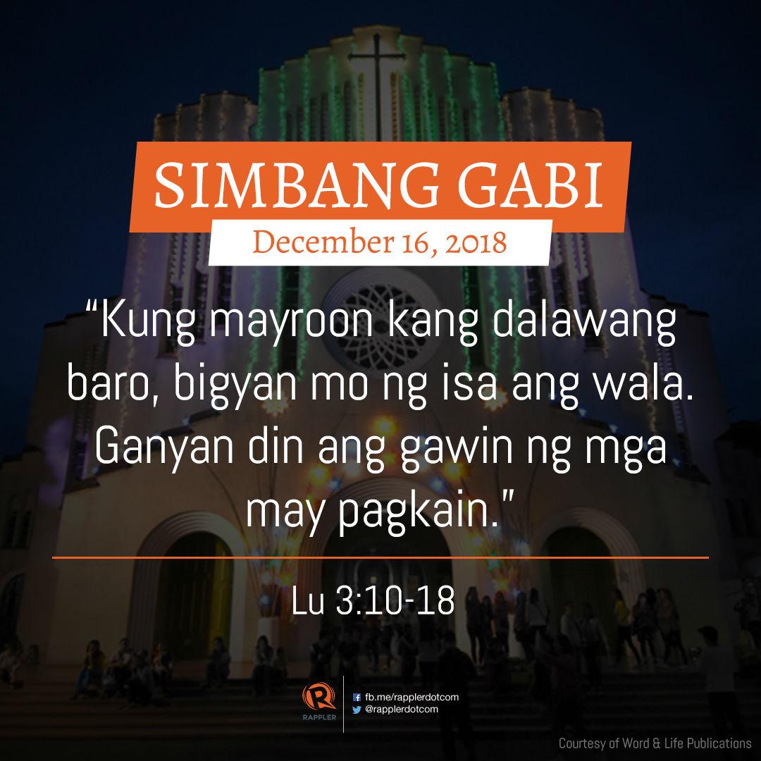 read gospel for simbang gabi december 16 2018