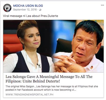 Mocha Uson: Fake news victim or fake news peddler?