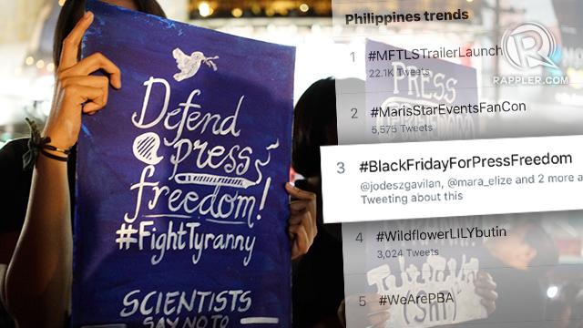 Netizens Speak Out For Press Freedom On Black Friday