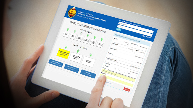 You can now apply for NBI clearance online