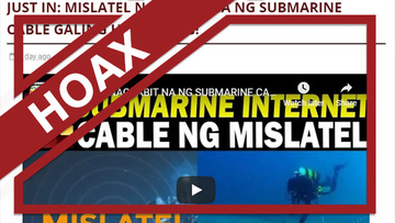 HOAX: Mislatel 'already installed' a submarine cable in