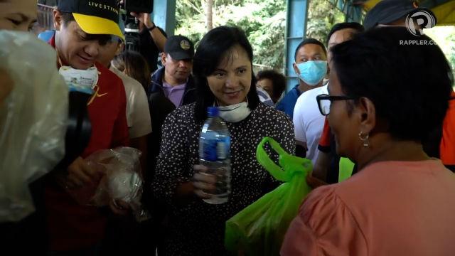 Robredo's Angat Buhay donates food packs, face masks to Taal victims