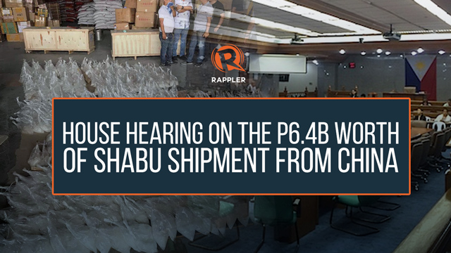 REPLAY: House hearing on the P6.4B worth of shabu shipment from China