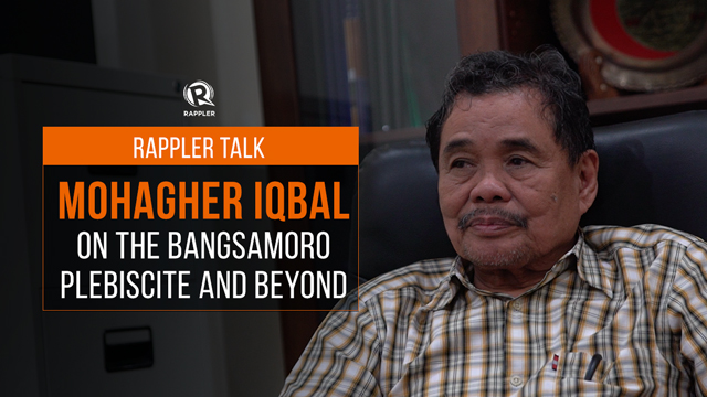 Rappler Talk: Mohagher Iqbal on the Bangsamoro plebiscite and beyond