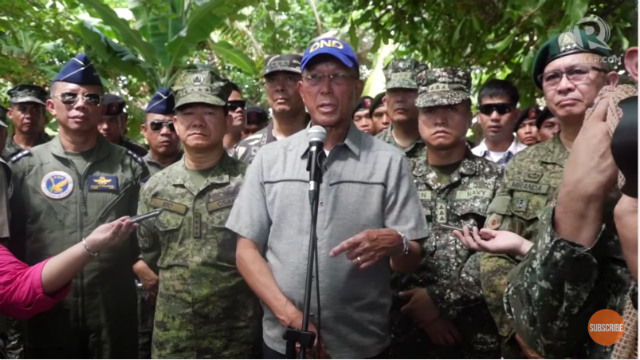 FAKE NEWS. Defense Secretary Delfin Lorenzana dismisses as 'fake news' the supposed brewing destabilization inside the military.