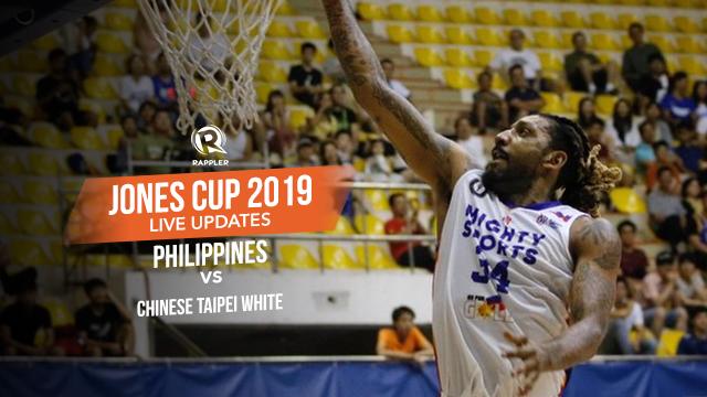 LIVE UPDATES: Philippines vs Chinese Taipei White - Jones Cup 2019