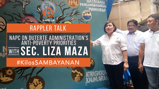 Rappler Talk: NAPC chief on Duterte administration's anti-poverty priorities