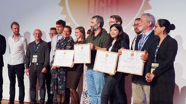 WINNER. The Rappler team, led by journalist Patricia Evangelista, wins the GIJN 2019 Global Shining Light Award in Hamburg on September 28, 2019. Rappler photo