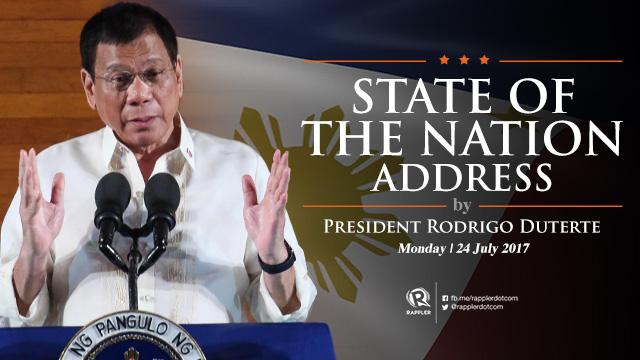 LIVE: 2017 State of the Nation Address by President Rodrigo Duterte