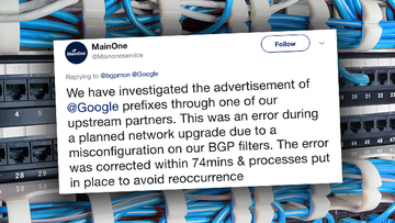 Nigerian ISP admits error which caused misrouting of Google