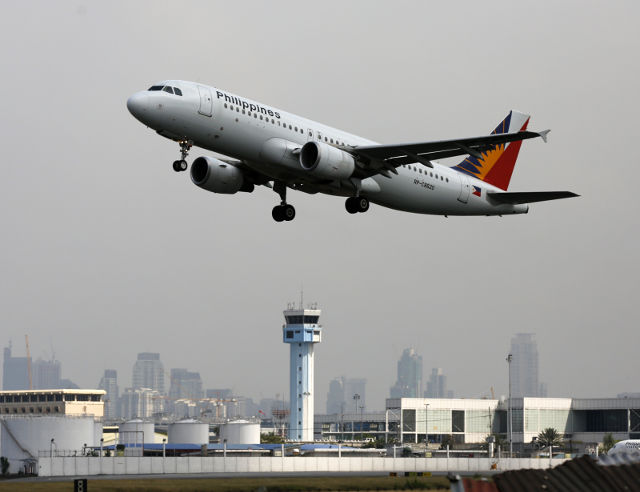 Philippine Airlines A Philippine Airlines Pal Plane Takes Off From Manila S International Airport