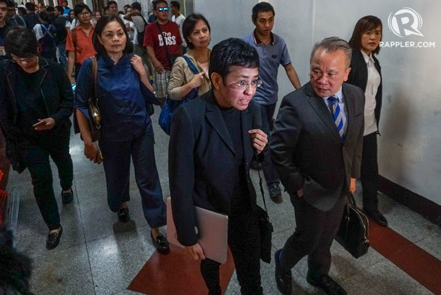 CYBER LIBEL. Rappler CEO and executive editor Maria Ressa leaves the Manila RTC courthouse after attending a cyber libel case hearing on December 16, 2019. File photo by Lito Borras/ Rappler
