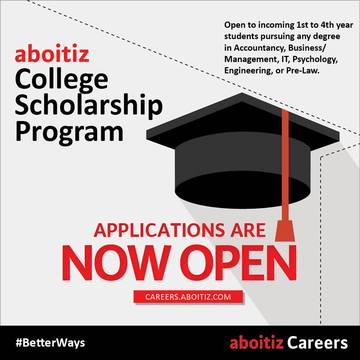 Scholarships For College Students 2016 >> Aboitiz Opens Applications For 2016 College Scholarship Programs
