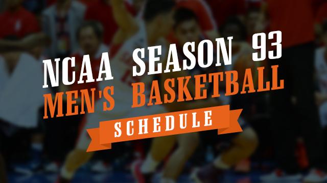 SCHEDULE: NCAA Season 93 men's basketball first round