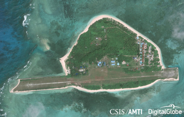STANDING UP FOR PAG-ASA. Here is an image of Pag-asa Island, the seat of power in the Kalayaan Group of Islands (Spratlys). Image from CSIS/AMTI