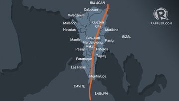 Philippine West Valley Fault Line Map What dangers await when the West Valley Fault moves?