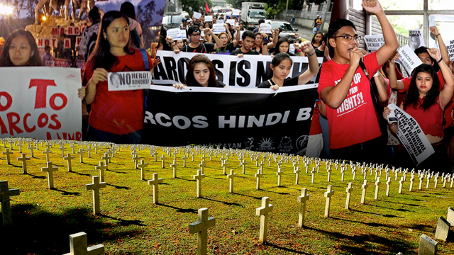 Schedule of protests vs Marcos burial: November 18