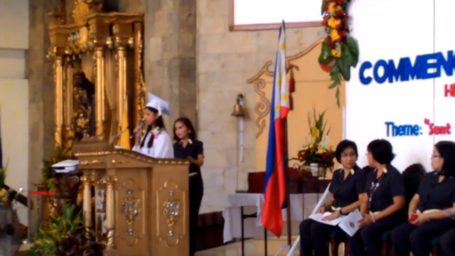 graduation speech pinigilan