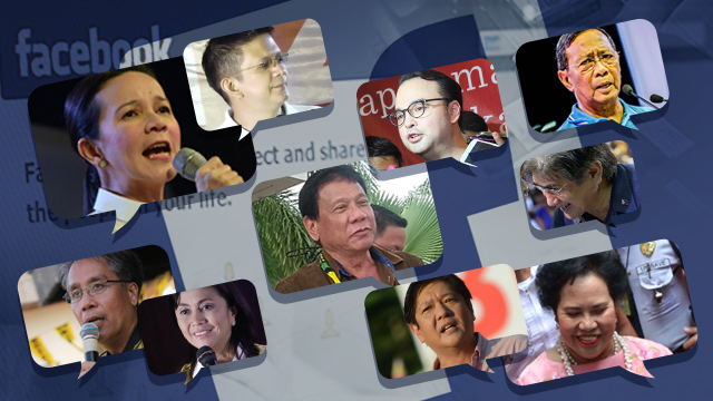 Who are the most talked-about candidates on Facebook?