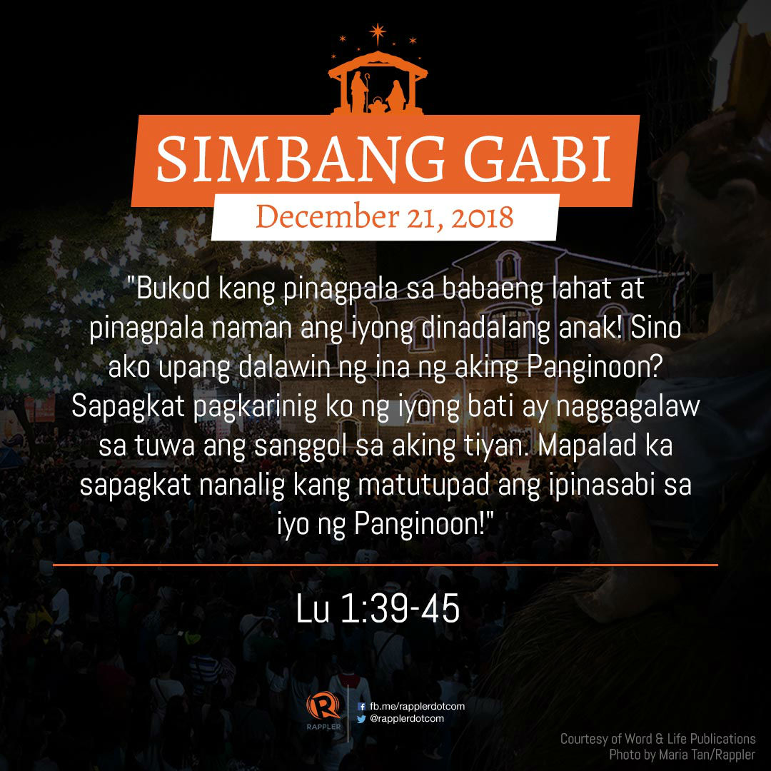 READ: Gospel for Simbang Gabi - December 21, 2018