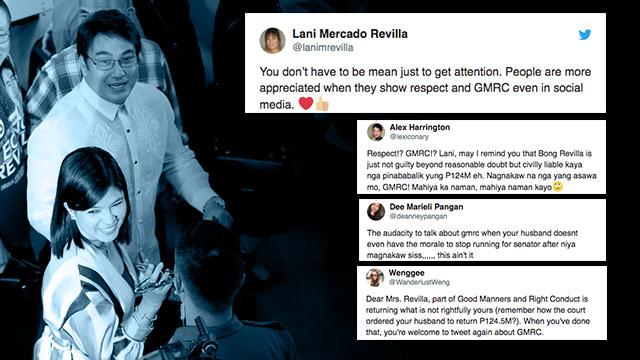 Pakisauli po ang milyones': Netizens burn Lani Mercado