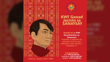 Mga kabataan, sumali na sa KWF Gawad Jacinto sa Sanaysay