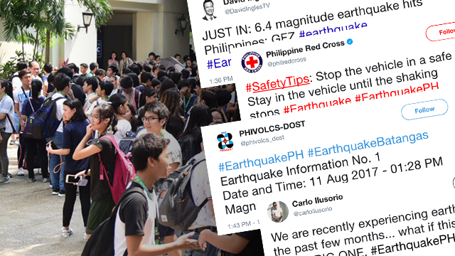 In tweets: Where magnitude 6.3 earthquake was felt in Luzon