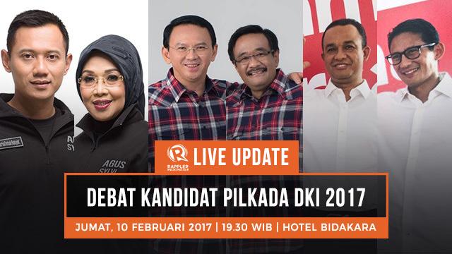 Live Updates Debat Ketiga Pilkada Dki Jakarta 2017