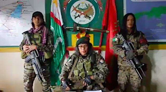 COMMANDER BRAVO. The belligerent MILF commander leads about 1,500 fighters. Screenshot of his Facebook video