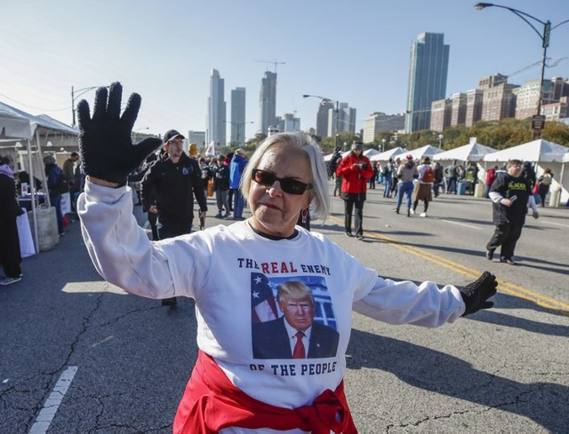 PROTEST. Women gather for a rally and march at Grant Park on October 13, 2018 in Chicago, Illinois to inspire voter turnout ahead of midterm polls in the United States. Photo by Kamil Krzaczynski/AFP