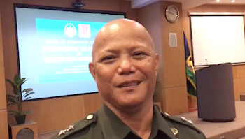 NEW POST. Major General Rene Glen Paje is appointed as the DSWD's newest Undersecretary. Screenshot from Rappler video