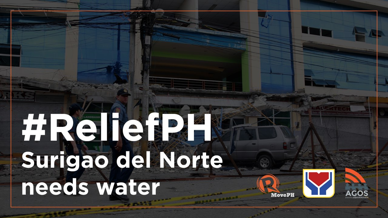 #ReliefPH: Donate to provide water for quake-hit Surigao