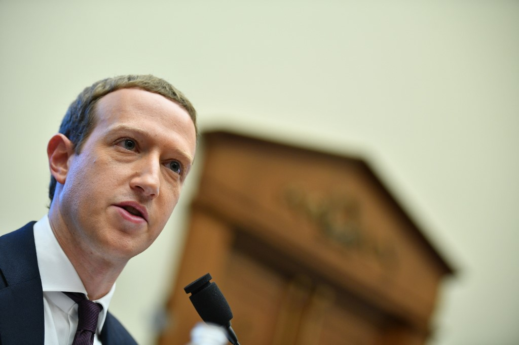'BIG PROJECT.' ZUCKERBERG. In this file photo, Facebook chairman and CEO Mark Zuckerberg testifies before the House Financial Services Committee in the Rayburn House Office Building in Washington, DC, on October 23, 2019. Photo by Mandel Ngan/AFP