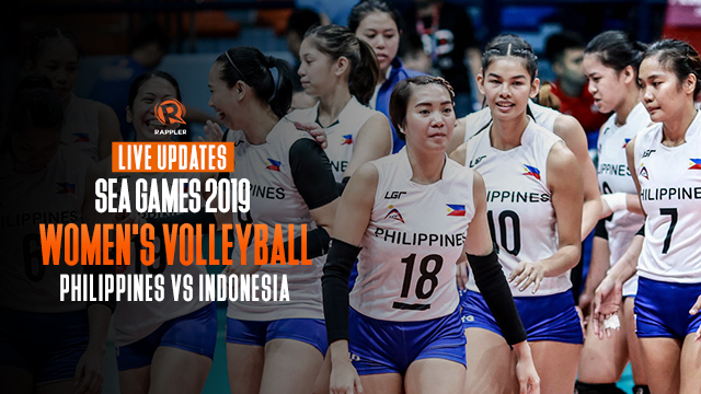 LIVE UPDATES: Philippines vs Indonesia – SEA Games 2019 women's volleyball
