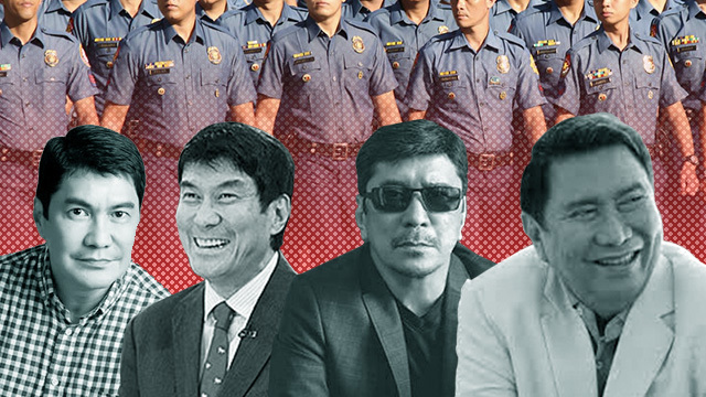 Photos of Mon, Erwin, and Ben Tulfo from their Facebook and Twitter accounts. Photo of Raffy Tulfo from Wikimedia Commons. Police photo by Darren Langit/Rappler