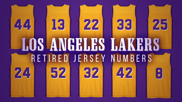 193aea4a0 LOOK  Retired jersey numbers in Lakers history