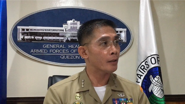 SILENCE. AFP Spokesperson Colonel Edgard Arevalo says they have conducted patrols for the China bombers but declines to reveal their findings. Rappler file photo