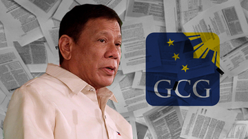Which GOCCs are affected by Duterte's EO on salaries?