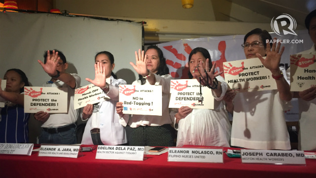 Groups slam 'dangerous' red-tagging of health workers