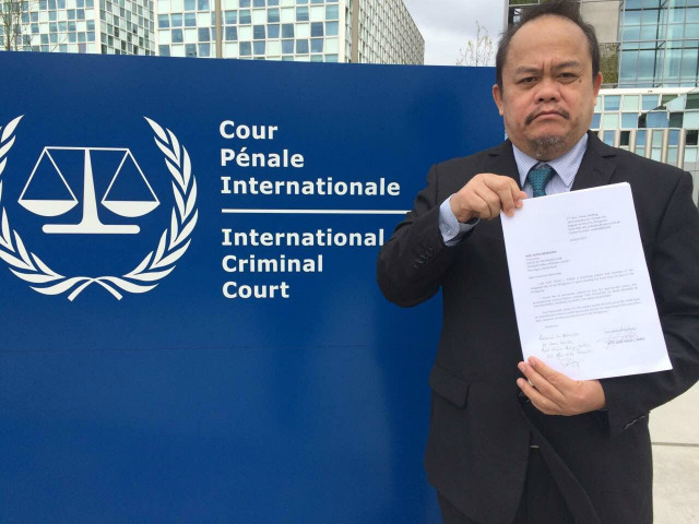 COMPLAINT VS DUTERTE. Jude Sabio is the lawyer who filed a complaint against President Rodrigo Duterte before the International Criminal Court. File photo courtesy of Jude Sabio