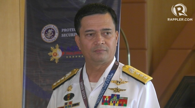 PH NAVY CHIEF. Philippine Navy chief Vice Admiral Ronald Mercado leaves his post months ahead of his scheduled retirement. Rappler photo