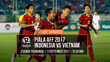 LIVE UPDATES Piala AFF 2017: Duel Indonesia VS Vietnam