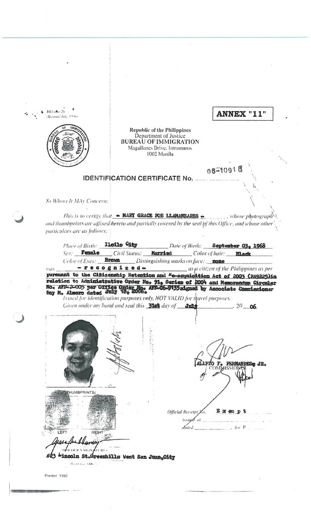 Timeline grace poe 39 s citizenship residency for Bureau tagalog