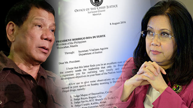 Full Text Sereno S Letter To President Duterte