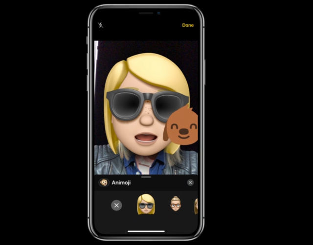 MEMOJI. Your personalized emojis will be available on iOS 12. Screenshot from livestream.