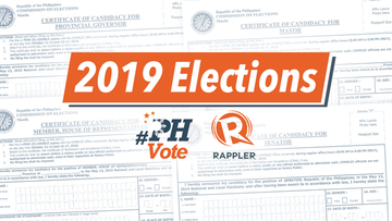 HIGHLIGHTS: Filing of certificates of candidacy for the 2019