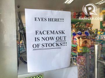 Off Cebu Face Coronavirus Masks Shelves Scare Amid The Fly Of